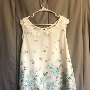 Lauren Conrad spring lace and sheer blouse